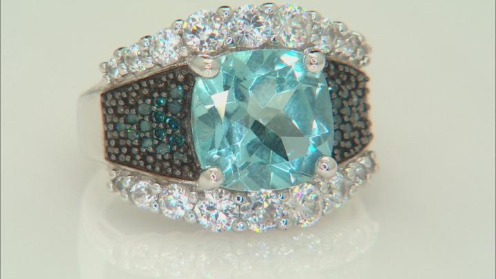 Sky Blue Topaz Sterling Silver Ring 5.61ctw