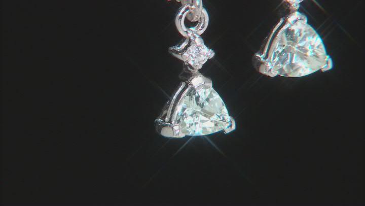 Green Amblygonite Sterling Silver Earrings .81ctw
