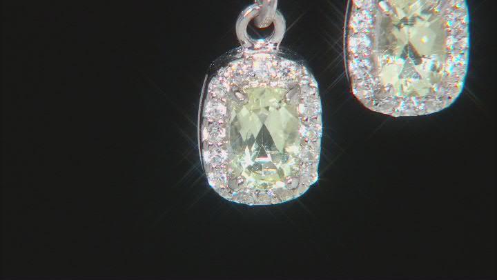 Green Ambligonite Sterling Silver Earrings 1.07ctw