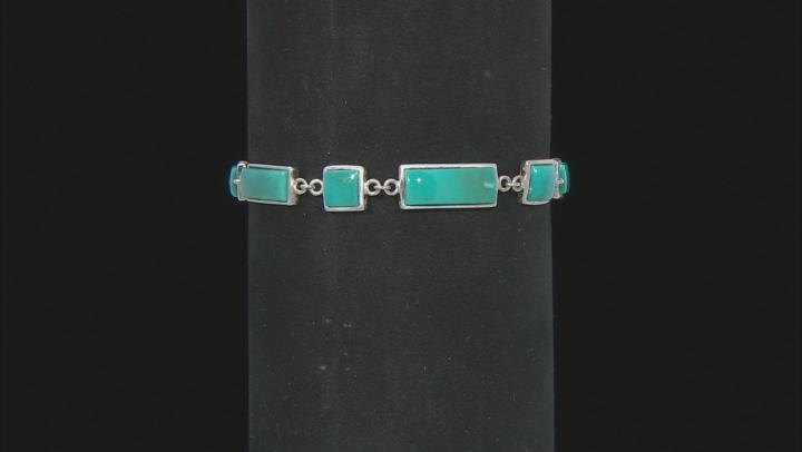 Blue Arizona Turquoise Sterling Silver Bracelet