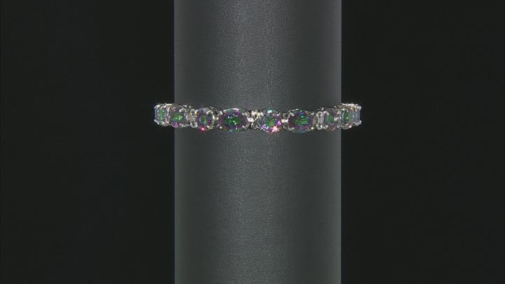Multicolor Mystic Topaz® Rhodium Over Sterling Silver Bracelet 32.30ctw