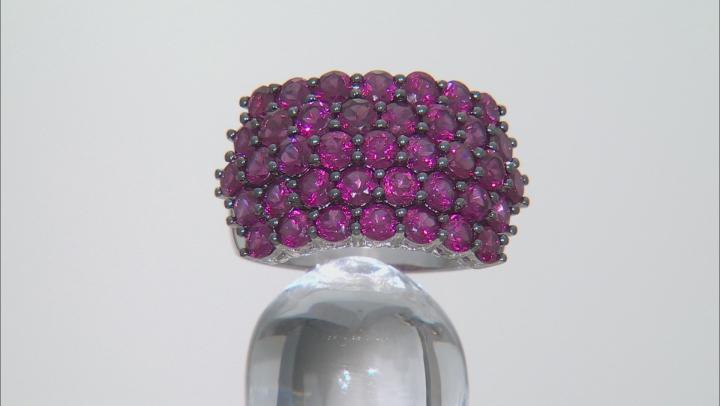 Purple Rhodolite Sterling Silver Ring 5.27ctw