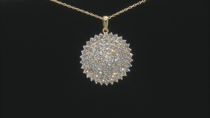 Diamond 10k Yellow Gold Pendant 2.00ctw