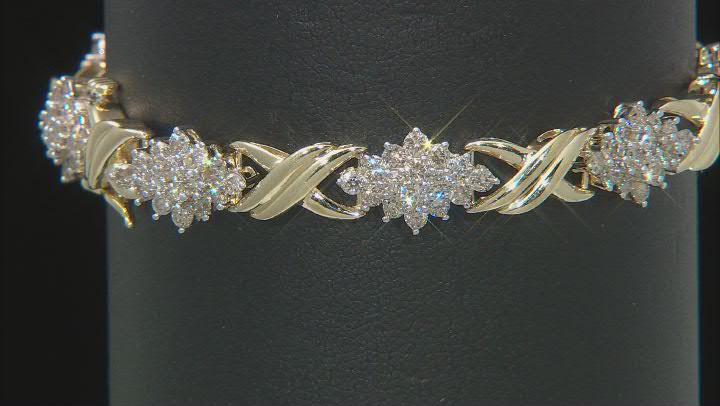 Diamond 10k Yellow Gold Bracelet 5.00ctw