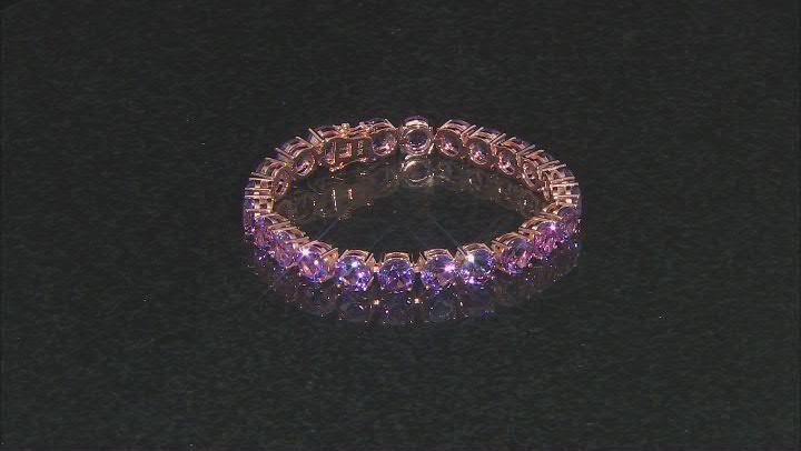Lavender amethyst 18k rose gold over silver bracelet 34.12ctw