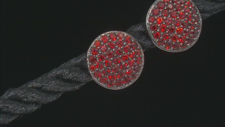 Red pyrope garnet silver earrings .83ctw