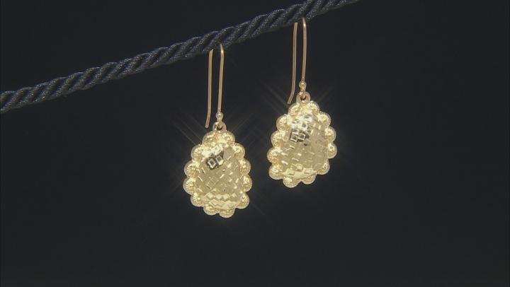 18K Gold Over Silver Dangle Earrings