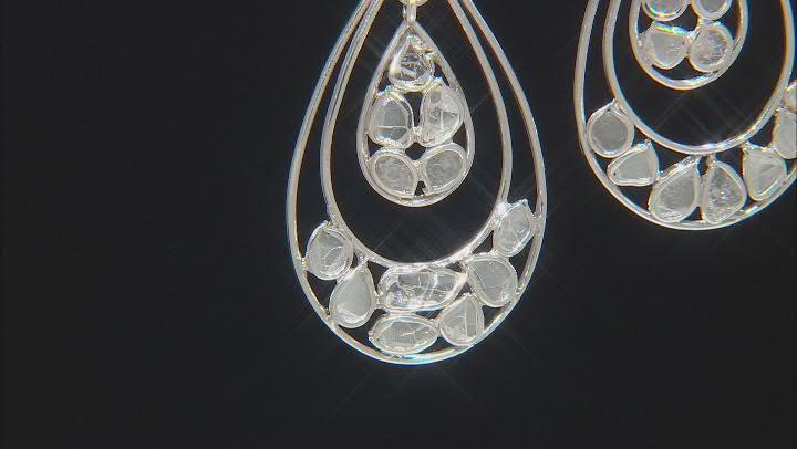 Polki Diamond Sterling Silver Earrings