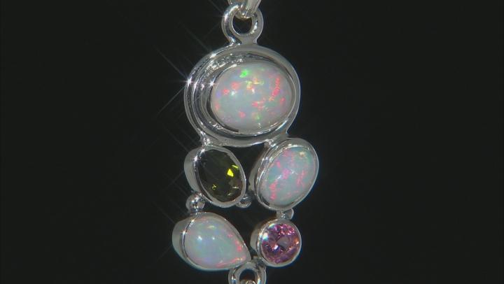 Ethiopian Opal Sterling Silver Pendant