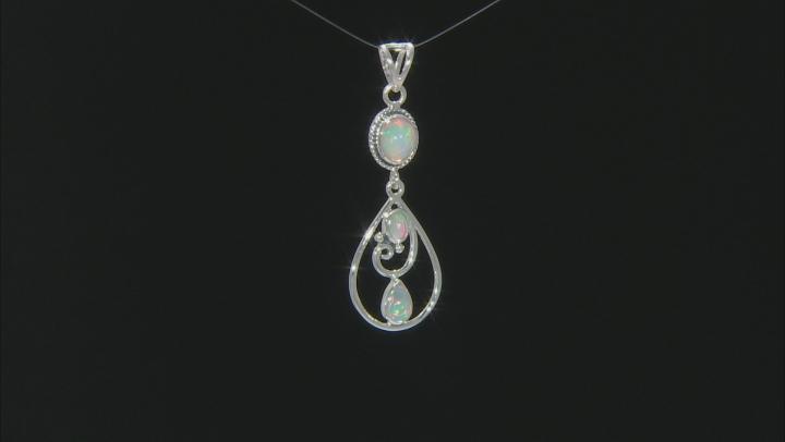 Ethiopian Opal Sterling Silver Pendant 1.75ctw