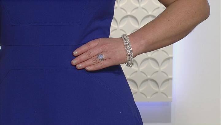 White Moonstone Sterling Silver Ring