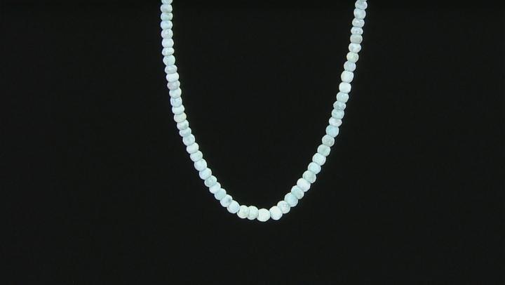 Blue Larimar Sterling Silver Necklace