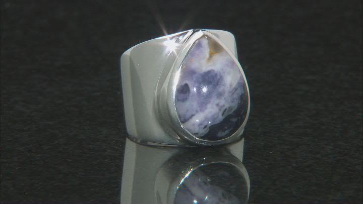 Purple Mexican Morado Opal Sterling Silver Ring