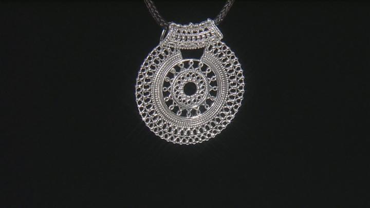 Sterling Silver Medallion Pendant