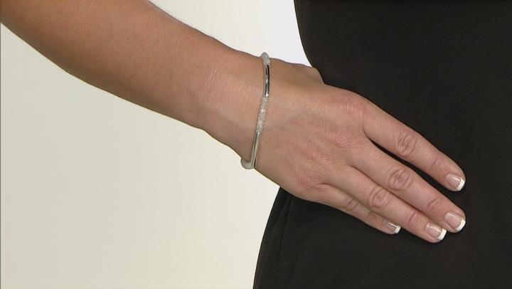 White Rainbow Moonstone Sterling Silver Bracelet 6.80ctw