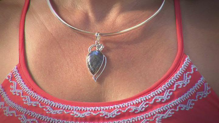 Multicolor Labradorite Sterling Silver Pendant