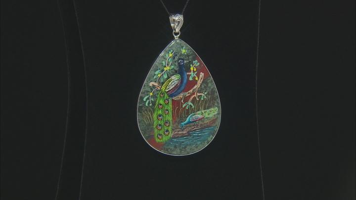 Multicolor Sonora Sunrise Jasper Silver Pendant