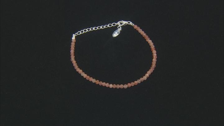 Orange Sunstone Silver Bracelet