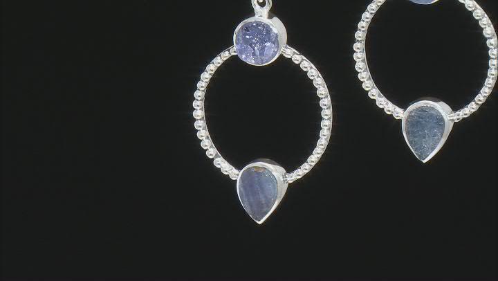 Blue Tanzanite Sterling Silver Earrings