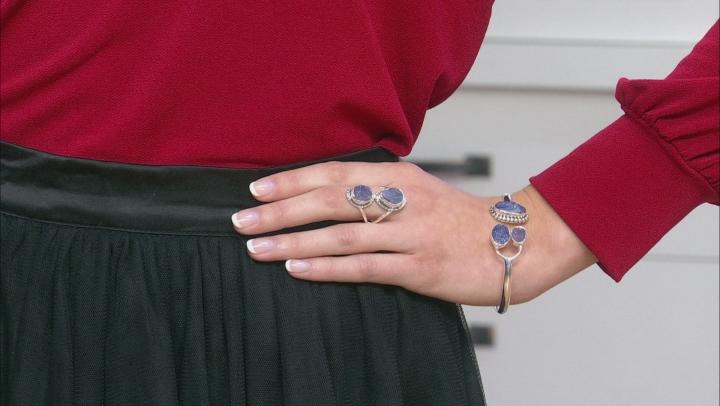 Blue Tanzanite Sterling Silver Ring