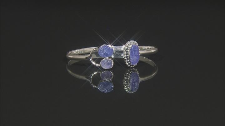 Blue Tanzanite Sterling Silver Bracelet