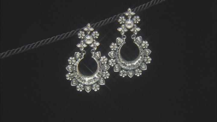 Sterling Silver Tribal Door Knocker Earrings