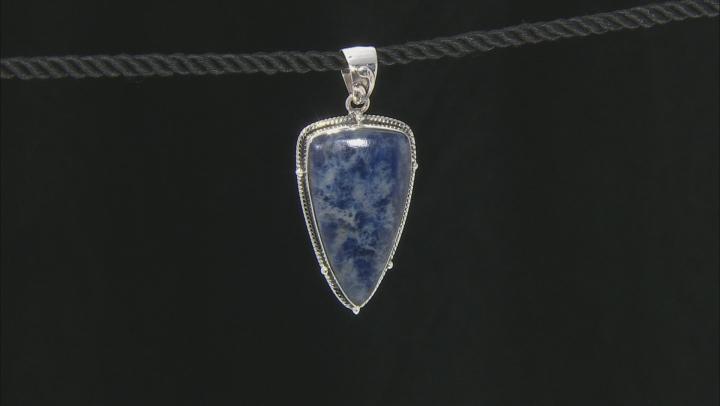 Blue Sodalite Silver Pendant