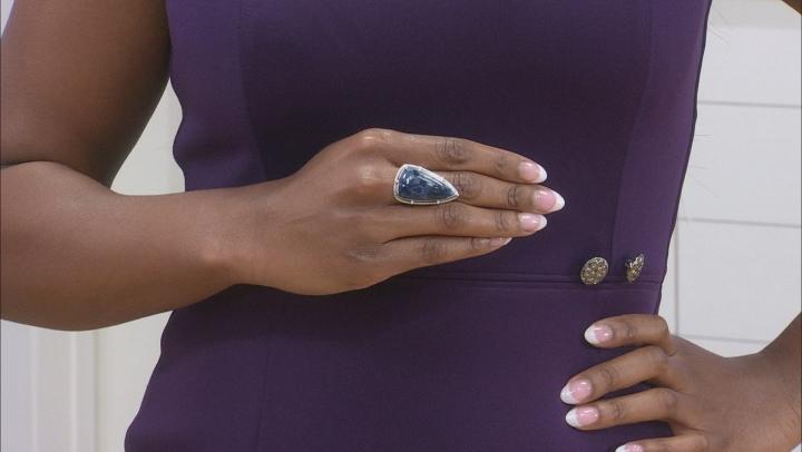 Blue Sodalite Silver Ring