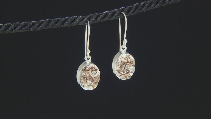 Multicolor Astrophyllite Silver Earrings