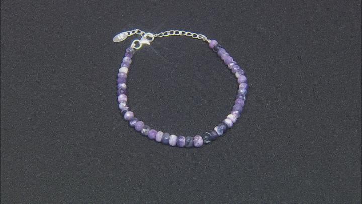 Morado Opal Bead Strand Sterling Silver Bracelet
