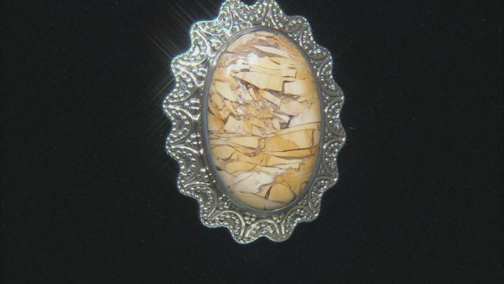 Brecciated Mookaite Sterling Silver Pendant