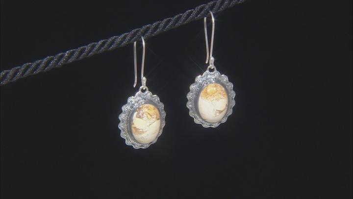 Brecciated Mookaite Sterling Silver Earrings