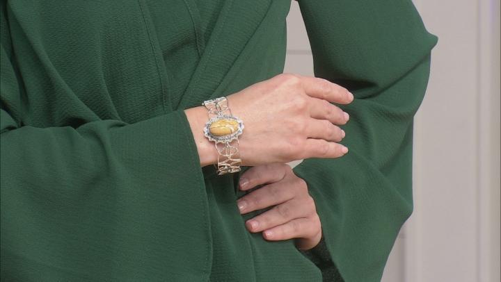 Brecciated Mookaite Sterling Silver Cuff Bracelet