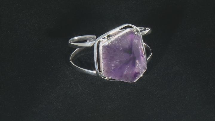 Chevron Lace Amethyst Sterling Silver Cuff Bracelet