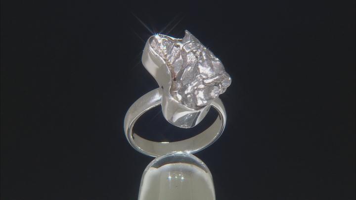 Meteorite Rough Sterling Silver Ring