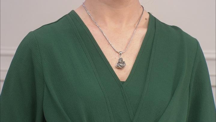 Meteorite Rough Sterling Silver Pendant
