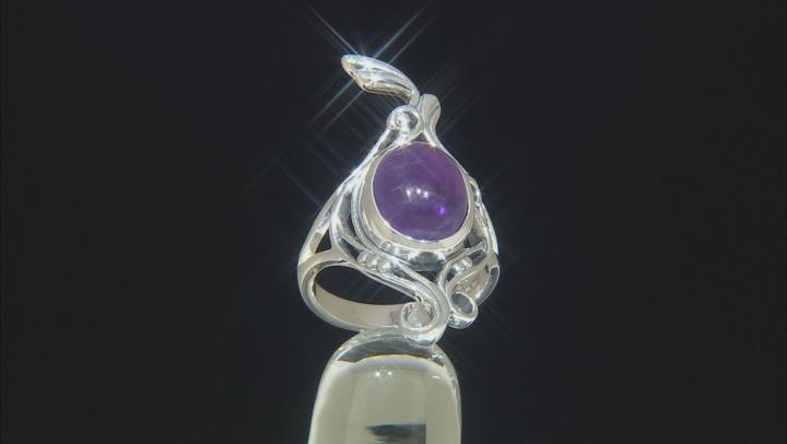 Purple Amethyst Sterling Silver Ring