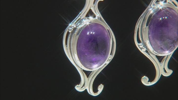Purple Amethyst Sterling Silver Earrings