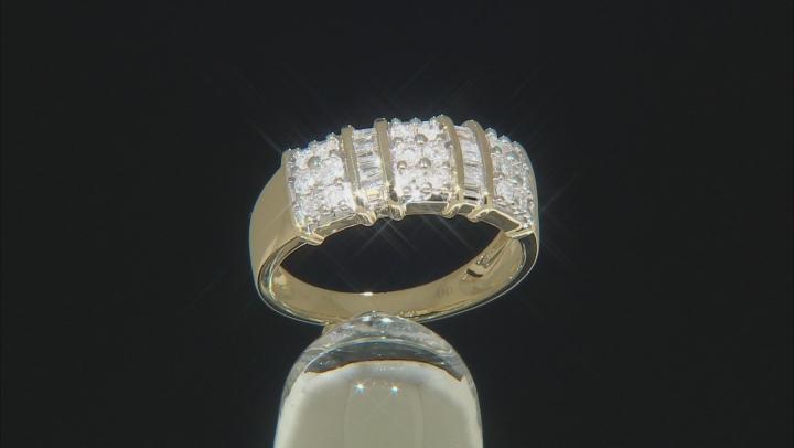 White Diamond Ring 10k Yellow Gold .50ctw