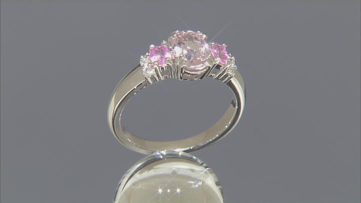 Pink Kunzite Sterling Silver Ring 1.98ctw