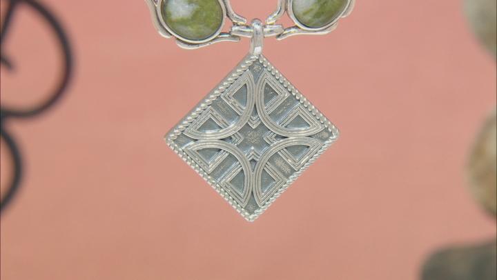 Green Connemara Marble Silver Necklace