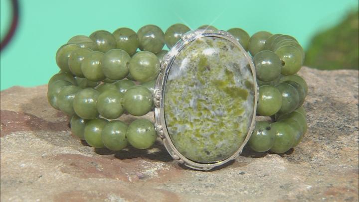 Connemara Marble Stretch Bead Bracelet