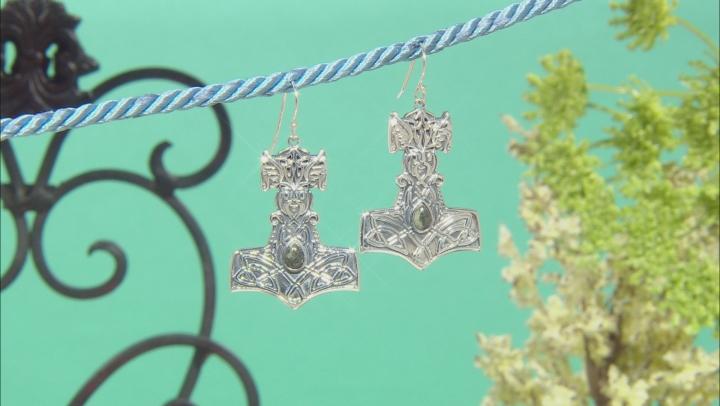 Connemara Marble Sterling Silver Viking Hammer Earrings