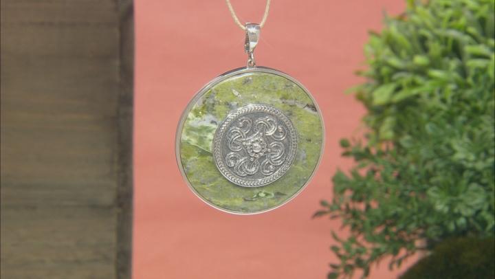 Connemara Marble Sterling Silver Viking Shield Enhancer
