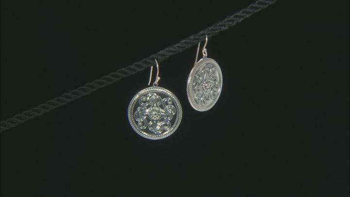 Sterling Silver Viking Shield Earrings