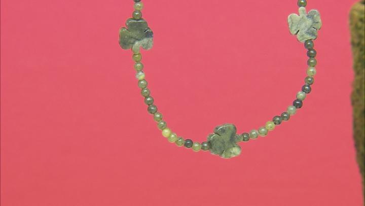Connemara Marble Shamrock Beaded Necklace Strand