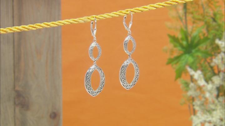 Sterling Silver Celtic Dangle Earrings