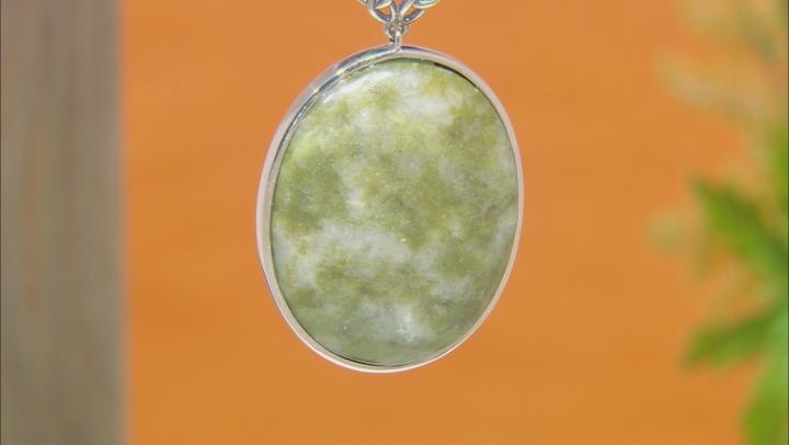 Connemara Marble Silver Celtic Pendant