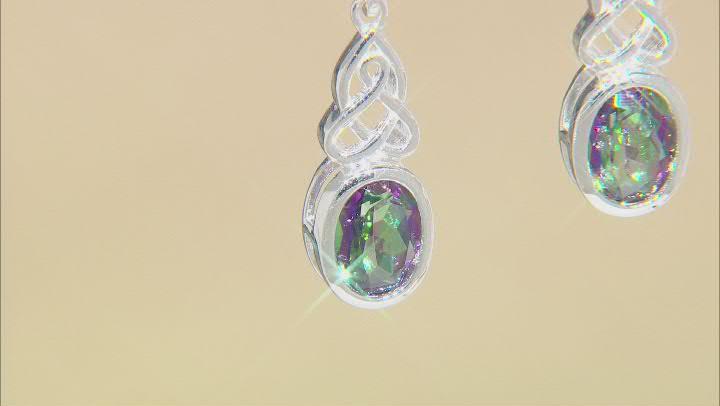 Quartz Sterling Silver Earrings 2.23ctw