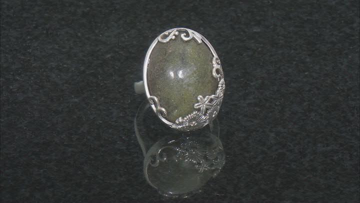 Connemara Marble Silver Spring Bouquet Ring